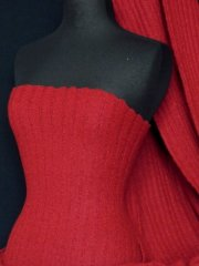 Cable Sweater Knit Polyester Soft Fabric Tubular Width- Red Wine Q951 RDWN
