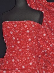 Polar Fleece Anti Pill Fabric- Winter Wonderland Red/White Snowflake PPFL42 RDWHT