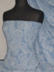 Soft Touch Sheer Fabric - Georgette Paisley PCH41 BLIV