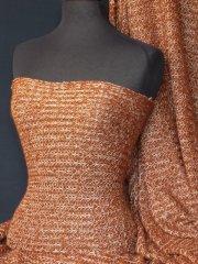 Sweater Knit Acrylic Soft Fabric- Rust Q971 RST