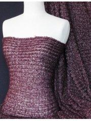 Sweater Knit Acrylic Soft Fabric- Wine Q971 WN