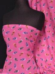 Chiffon Soft Touch Sheer Fabric - Exotic Pineapple Q556 PN
