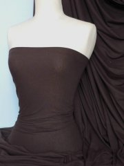 Cotton Lycra Jersey 4 Way Stretch Fabric - Earth Brown Q35 EBR