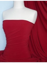 Cotton Lycra Jersey 4 Way Stretch Fabric - Cherry Red Q35 CHRD
