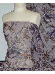 Chiffon Soft Touch Sheer Fabric - Nectar Bird CHF58 BRN