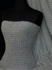 Sweater Knit Acrylic Soft Fabric - Grey Q971 GR