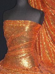 Showtime Fabric All Over Stitched 3mm Sequins - Pumpkin SEQ53 PMK