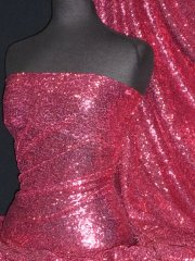 Showtime Fabric All Over Stitched 3mm Sequins - Cerise Pink SEQ53 CRS