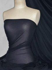 Paris Mesh Non-Lycra 4 Way Stretch Light Jersey Fabric- Midnight Navy Q450 MDNY
