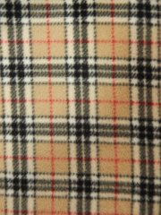 Polar Fleece Anti Pill Washable Soft Fabric- Classic Tartan Q1381 BGBK