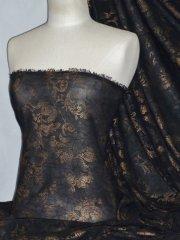 Crinkle Chiffon Sheer Fabric- Antique Copper CHF177 BKCOP