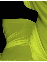 Paris Mesh Non-Lycra 4 Way Stretch Light Jersey Fabric- Flo Yellow Q450 FLYL