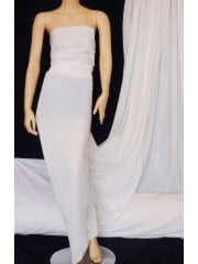 Velvet /Velour 4 Way Stretch Spandex Lycra- Ivory Q559 IV