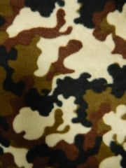 Polar Fleece Anti Pill Washable Soft Fabric- Military Camouflage Q1111 BROLV