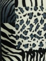 Polar Fleece Anti Pill Washable Soft Fabric- Animal Print Patchwork Q1385 GR