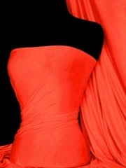 Viscose Cotton Stretch Lycra Fabric- Neon Orange Q300 NOR