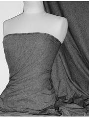 Speckled Hen Nepp Single Jersey Knit Light Cotton T-Shirt Fabric- Thunder Grey SQ82 TGR
