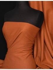Washed Linen Medium Weight Dress Fabric Material- Copper Q312 COP