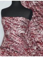 Viscose Cotton Stretch Fabric- Autumn Fall Red VSC199 RDMLT