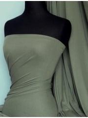 100% Viscose Stretch Fabric Material- Khaki 100VSC KH