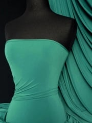 Soft Touch 4 Way Stretch Lycra Fabric- Sea Green Q36 SGRN