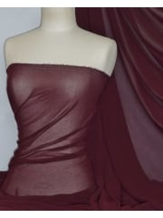 Crinkle Sheer Chiffon Material- Maroon Q795 MRN