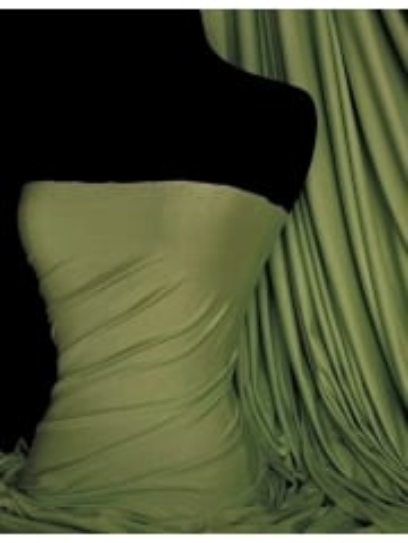 Viscose Cotton Stretch Lycra Fabric- Kiwi Green Q300 KWGR