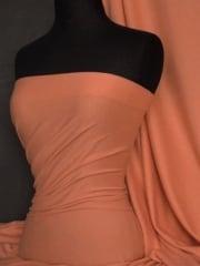 Single Jersey Knit 100% Light Cotton T-Shirt Fabric- Burnt Orange Q1249 BNOR