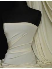 Shiny Lycra 4 Way Stretch Material- Vanilla Cream Q54 VNCRM