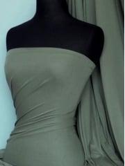 100% Viscose Stretch Fabric Material- Dark Khaki 100VSC DKH