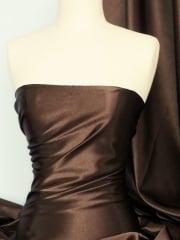 Crepe Back Satin Fabric Material- Chocolate Brown Q131 CHC