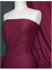 Single Jersey Knit 100% Light Cotton T-Shirt Fabric- Claret Q1249 CLT