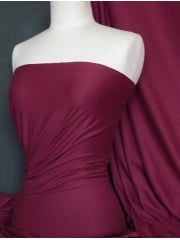 Cotton Lycra Jersey 4 Way Stretch Fabric - Claret Pink Q35 CLRT