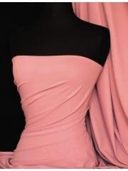 Clearance Matt Lycra 4 Way Stretch Mid-Weight Fabric- Dusky Pink CLMAT DPN