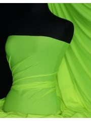 Shiny Lycra 4 Way Stretch Material- Flo Lime Green Q54 FLLM