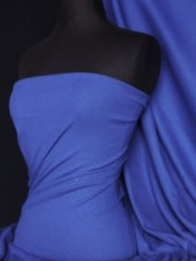 100% Cotton Jersey 2 x 2 Rib Knit Fabric- French Blue Q1007 FBL