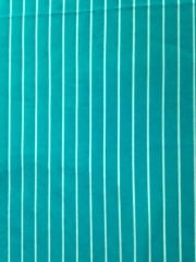 Micro Lycra Jersey 4 Way Stretch Fabric- Aqua Blue Stripes SQ96 AQBL