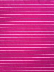 Micro Lycra Jersey 4 Way Stretch Fabric- Hot Pink Horizontal Stripes SQ96 HTPN