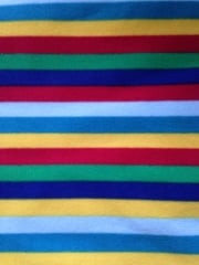 Polar Fleece Anti Pill Washable Soft Fabric- Clown Stripes PF CLWN