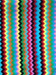 Polar Fleece Anti Pill Washable Soft Fabric- Turquoise Multi Zig Zag Q1299 TQMLT