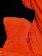 Peach Skin Soft Touch Drape Dress Fabric- Flo Orange PSK208 FLOR