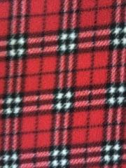 Polar Fleece Anti Pill Washable Soft Fabric- Red Tartan PF RDTRT