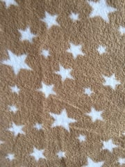 Polar Fleece Anti Pill Washable Soft Fabric- Cappuccino Twinkle PF227 CPWHT