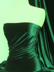 Micro Velvet Velour Fabric Luxuriously Soft Velvet- Bottle Green  MVEL22 BTGR
