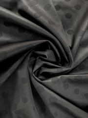 Scuba Poly Lycra Jersey Fabric- Printed Polka Dots Q1389 BK