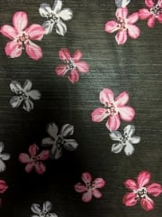 Chiffon Soft Touch Sheer Fabric - Floral Glitz CHF234 BKPN