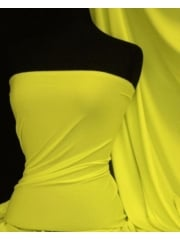 Enya Crepe 4 Way Stretch Jersey Fabric- Neon Yellow Q1169 NYL
