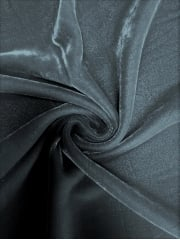 Micro Velvet Velour Fabric Luxuriously Soft Velvet- Elephant Grey MVEL22 EGR