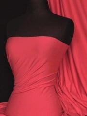 Cotton Lycra Jersey 4 Way Stretch Fabric - Lipstick Pink Q35 LPSPN