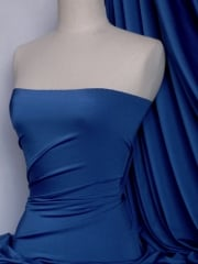 Clearance (168 cms Width) Satin Shiny Lycra Stretch Material- Royal Blue SQ124 RBL